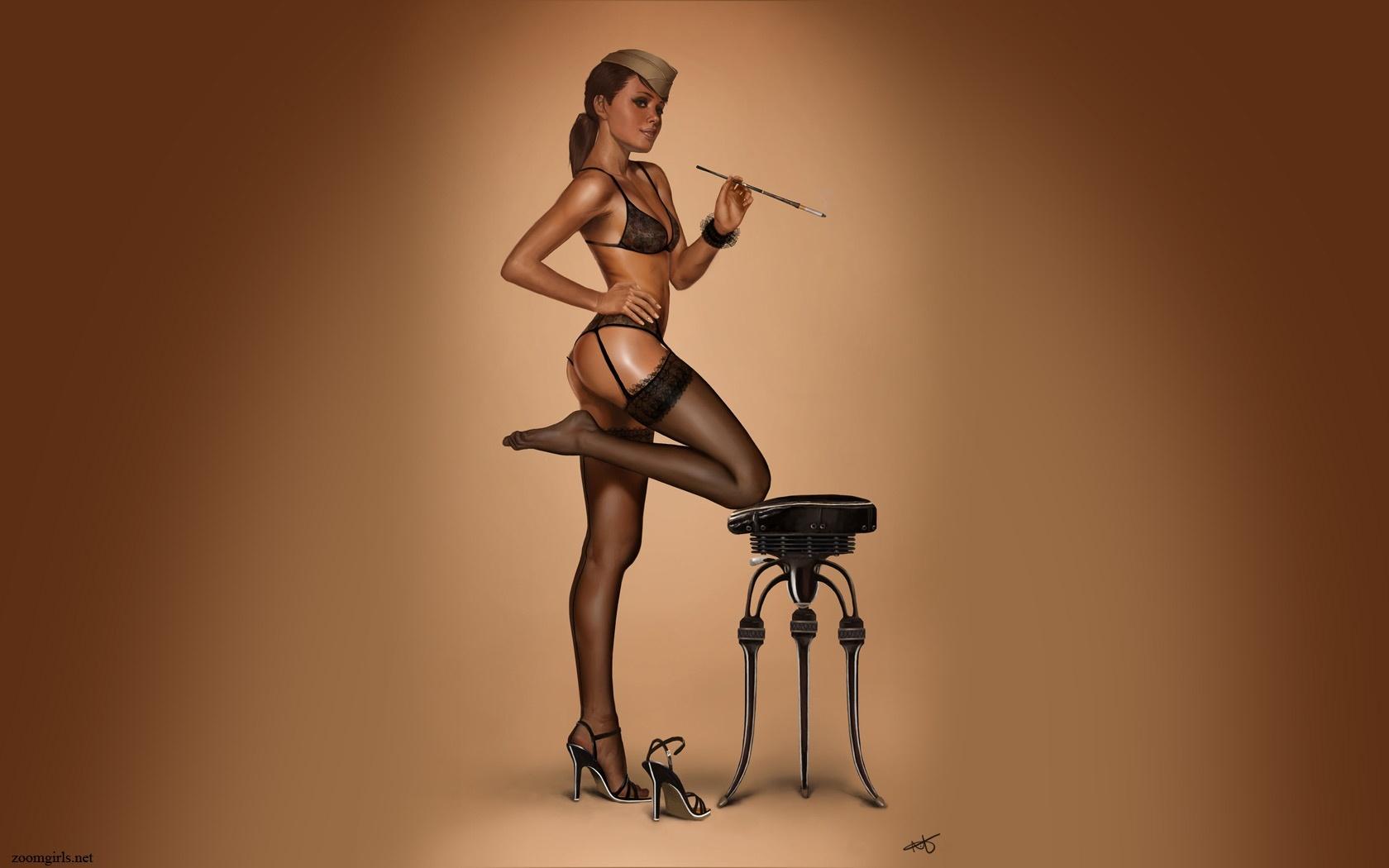 Фото сексуальные девушки с сигаретой 16 фотография